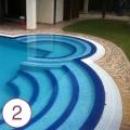 Realizzazione piscina e sistemazione giardino